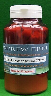 Silvering FINISHING POWDER 250g For Antique Clock Dials