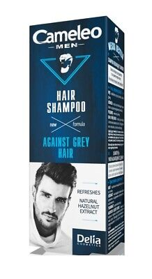 Men Care New Formula Shampoo Against Gray Hair Refreshes with Natural