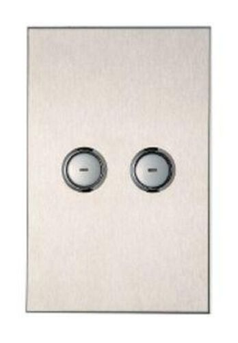 Clipsal C-BUS SATURN WALL SWITCH 2-Button, Flush Mounted, Stainless Steel
