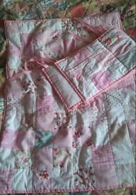 Cath Kidston patchwork cot quilt and decorative surround