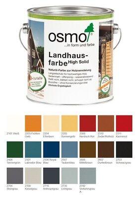 Solid Matte (OSMO Landhausfarbe 2,5l High Solid Weiß + Anthrazit Hoch Deckend Seidenmatt )