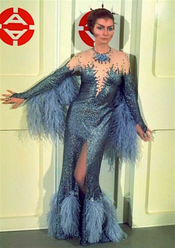 1975's SPACE: 1999 Catherine Schell Psychon gown color 8x10 costume portrait