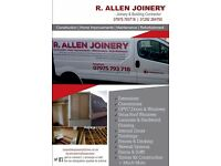 R ALLEN JOINERY & BUILDING CONTRACTOR. Experienced. qualified. Affordable competitive prices.