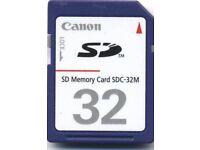 32Mb SD Memory Card Canon SDC-32M #1