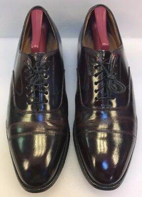 Johnston Murphy Optima Men 10 D / B US Cap Toe Oxfords Burgundy Leather 22-2985