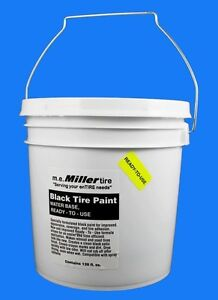 Black Tire Paint for antique car truck tractor tires 1 gal E844R