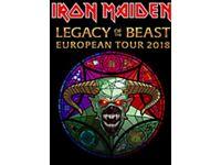 Iron Maiden concert ticket