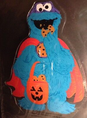 Sesame Street - Window Cling - Halloween Super Hero Cookie Monster Double Sided