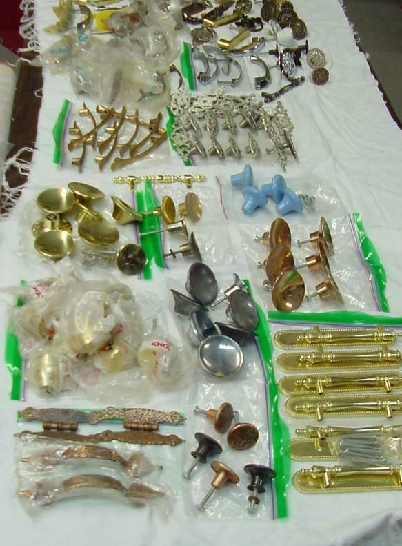Retro/vintage Pulls & Knobs. Cabinet and Furniture, Over 9 pounds, NOS & Used