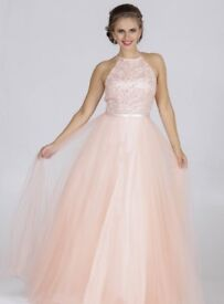 Prom Dress - Champagne Pink size 10/12 cost over £300 new