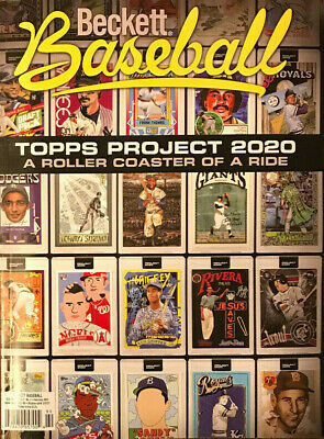 New February 2021 Beckett Baseball Card Price Guide Magazine, Topps Project 2020