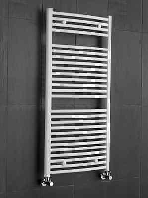 Radiateur sèche-serviettes Sanifun Medina Courbé 180 x 60 Blanc.