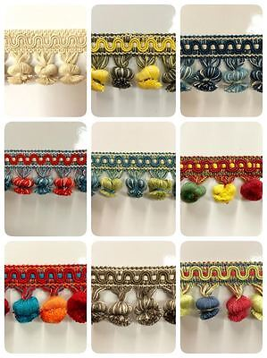 """2"""" 100% COTTON TASSEL FRINGE     TF-19  (Sold by the yard)"""