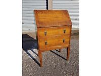 Vintage Bureau Writing Desk with 2 Drawers