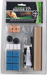 MCDERMOTT BRAND 40 PIECE POOL TABLE BILLIARD CUE STICK TIP REPAIR KIT