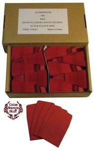 Coin-Envelopes-2x2-Red-You-Choose-10pk-25pk-50pk-100pk-or-500pk