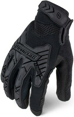 Ironclad IEXT-GIBLK Black Command Tactical Impact Grip Gloves, XL, 1 Pair, New Black Commander Gloves