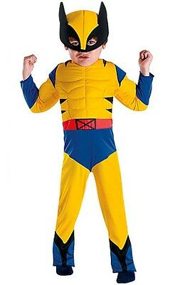 NEW Marvel X-Men Wolverine Muscle Toddler Boys Dress Up Halloween Costume Sz 2T