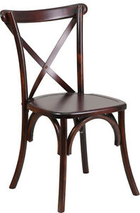 RESTAURANT CROSS BACK WOODEN DINING CHAIR Peterborough Peterborough Area image 1