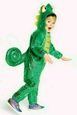 Kids Lizard Costume (Kids Toddler Plush Chameleon Gecko Lizard Costume Romper Outfit 4T to 5T ~NWT)