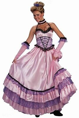 Saloon Sweetie Pink Western Southern Belle Fancy Dress Halloween Adult Costume - Southern Belle Costume Adult