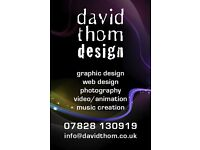 DAVID THOM DESIGN - Graphic Designer - Web Designer - Photographer - Music Creation