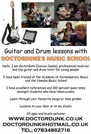 South London's best Guitar and Drum tutor for young people, first lesson half price