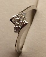 14k White Gold Marquise Diamond Ring