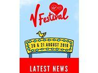 V Festival weekend camping ticket - Weston Park, Staffordshire