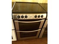 BELLING Silver 60cm Double electric cooker
