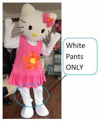 Hello Kitty Birthday Costume (Hello Kitty WHITE PANTS Mascot Costume Part Adult Birthday Girl Party Cosplay)
