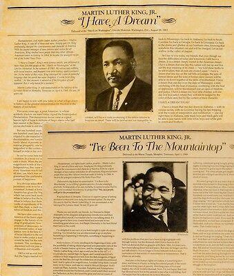 2x SPEECH Martin Luthar King, Jr.  I HAD A DREAM &  I've Been to the Mountaintop