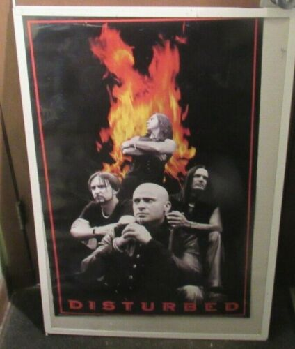 DISTURBED POSTER NEW 2002 RARE VINTAGE COLLECTIBLE OOP LIVE
