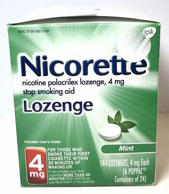 Nicorette Stop Smoking Aid Mint Flavor 4 mg 144 count  Exp 7/20 (Stop Smoking Mint)