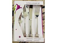 Roman Conrad 16 piece luxury stainless steel cutlery set, new in box