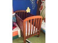 Cot bed east coast with mattress