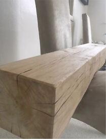 Chunky Oak fireplace beam