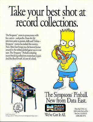 Data East Simpsons pinball eprom cpu chip set
