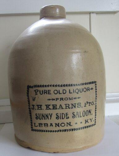 Stoneware Advertising Saloon Jug - C - 1890 - Kentucky- Sunny Side Saloon