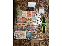 nintendo wii- good condition, includes 17 wii games including mario kart, just dance 1,2,3,4, zumba,