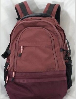 Victoria Secret PINK Dark Dusty Rose   Maroon Pink Large Full Size Backpack  NWT 54b162baba7cd