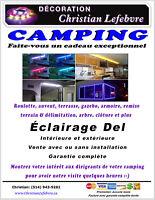 Pour camping, roulotte, vitrine commerciale et plus