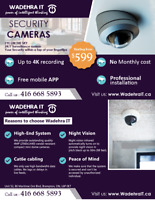 IP Security Cameras - Pro Installation - HD 4MP (2592x1520) Qlty