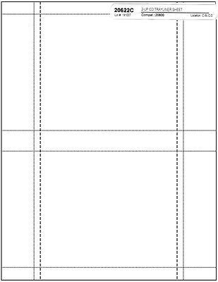 =MATTE FINISH= Jewel Case =Back Tray= INSERTS 200-Pak (100 sheets)