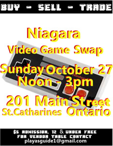 Video Game Swap Niagara Oct 27