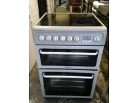 Hotpoint ceramic electric cooker very good condition 60cm Gray