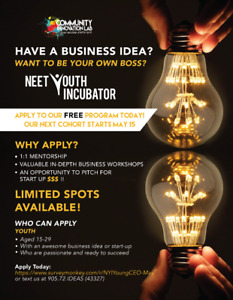 Looking for Youth who want to start their own business (FREE!)