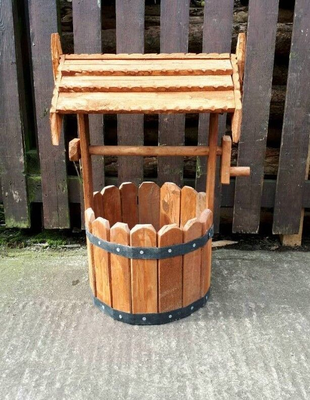 Timber Garden Wishing Well Planter Small In Durham County