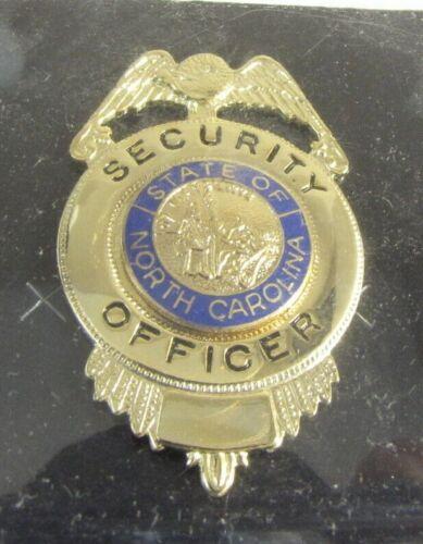 Obsolete New Cadet Gold Security Officer Badge Shield North Carolina NC Seal 2F1