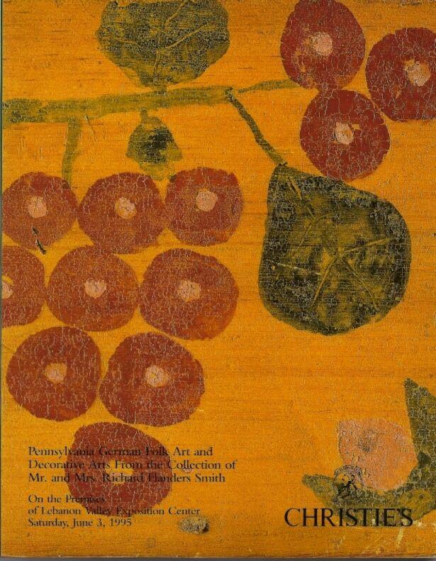 CHRISTIE'S Pennsylvania German Folk Art Furniture Smith Collection Catalog 1995